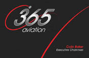 365 Aviation Business Cards Design