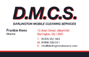 Darlington Mobile Cleaning Services Business Cards
