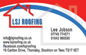 L S J Roofing Business Card